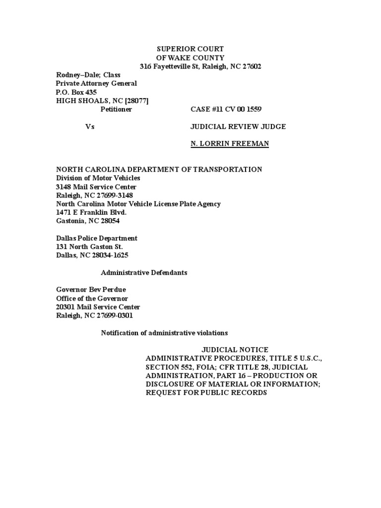 03152011 Rod Filing Traffic Case | Bankruptcy | Freedom Of