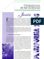 Plataforma de Mujeres de Osb 2003 Junin