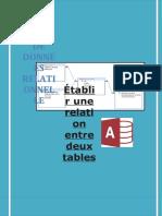 Établir une relation entre deux tables