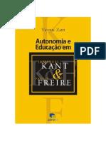 Autonimia e Educação em Emmanuel Kant  Paulo Freire