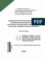 Dissertaçao - Ligação Concretos - Fagury, 2002, [Interessante]