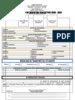 Formulario de Registro 2021-2022
