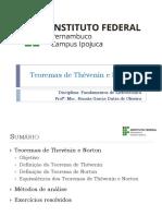 Aula 07 - Teoremas de Norton e Thevenin
