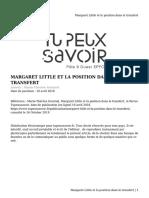 06_Margaret Little et la position dans le transfert