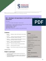 DIU stratégies thérapeutiques et préventives en infectiologie Sorbonne