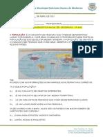 Avaliações de geografia