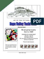 April 2011 NVYC Newsletter