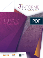 Tercer informe legislativo #TuVozEnElCongreso