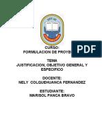 JUSTIFICACION OBJETIVOS GENERALES Y ESPECIFICOS