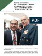 20-02-2018 Reconoce Héctor Astudillo compromiso y trabajo del Ejército Mexicano