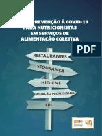 GUIA DE PREVENÇÃO À COVID-19 PARA NUTRICIONISTA EM SERVIÇO DE ALIMENTAÇÃO COLETIVA