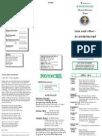 Newsletter 3 April 2011