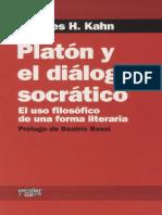 407602971 Kahn Charles Platon y El Dialogo Socratico El Uso Filosofico de Una Forma Literaria