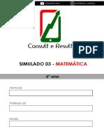 Simulado 03 - Matemática - 6º ano (Blog do Prof. Adonis)