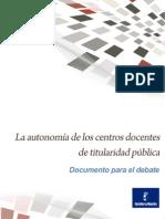 AutonomiaCentrosdocentes
