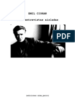 Cioran, Emil - 6 Entrevistas Aisladas