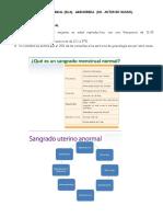 3. Sangrado Uterino Anormal. Amenorrea RJSM