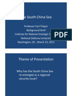 Thayer South China Sea as a Regional Security Issue