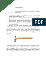 Clasificación y uso de las herramientas