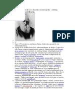 teoría de la evolución de Darwin desarrollar comentarios análisis  y problemas