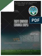 La comunidad Económica Europea