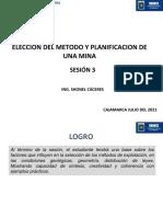 3. Elección del método y planificación de mina