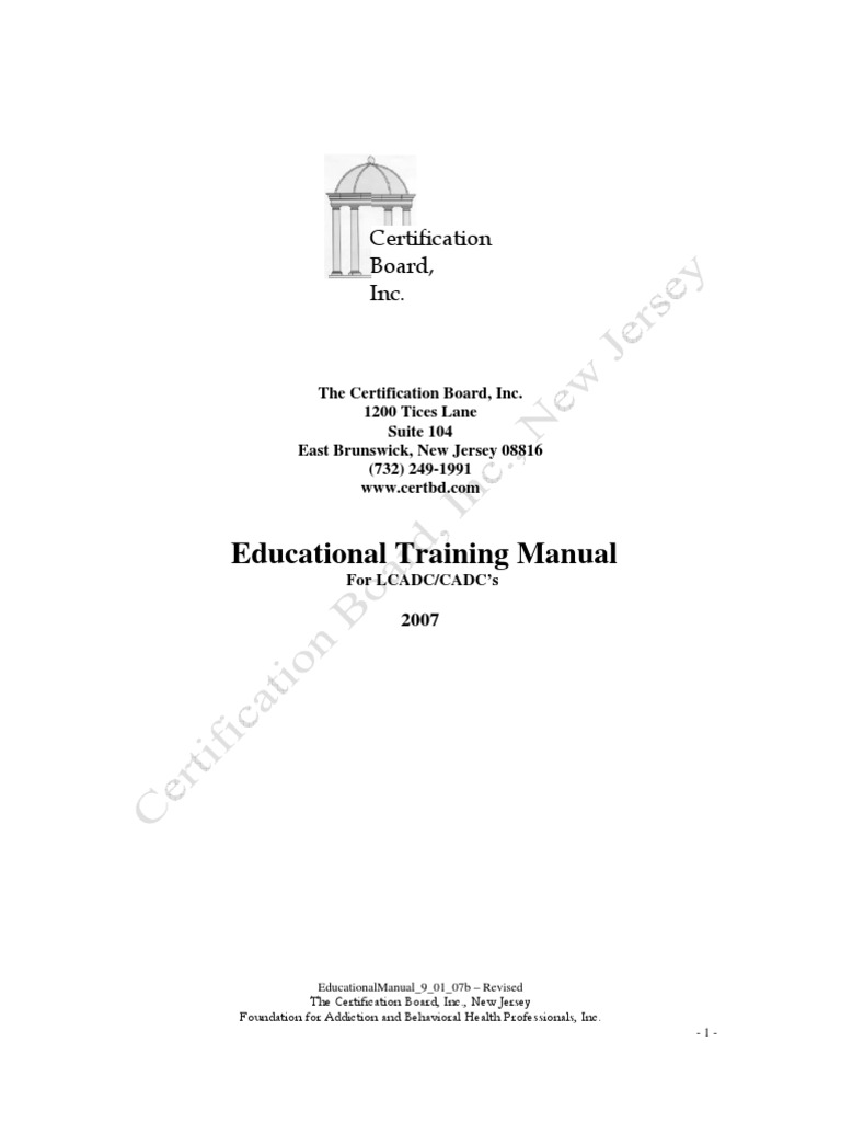 Cadceducationalmanual Substance Use Disorder Substance Abuse