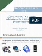 Integración curricular de TICs_clase2psicopedagogia