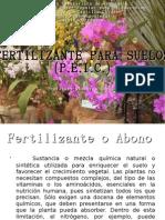 FERTILIZANTES PARA SUELOS