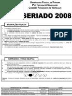 ProvaFinalVEST2008-SERIADO
