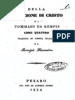 Imitação de Cristo Italiano 1834