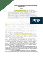 Tema 4 - ATIVIDADE POLICIAL COMO FATOR FOMENTADOR DE PROBLEMAS LIGADOS À SAÚDE MENTAL