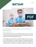 O Código de Ética Odontológica e como ele pode ser útil ao dentista _ Artigos CEMOI