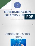 Unidad 5.Determinacion de Acido Urico
