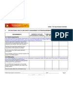 OHSAS 18001 Gap Analysis checklist