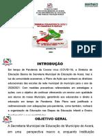 APRESENTAÇÃO PLANO DE AÇÃO JORNADA PEDAGÓGICA