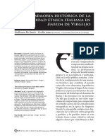 La memoria histórica de la diversidad étnnica italiana en la Eneida de Virgilio