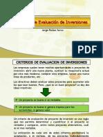 criterios de evaluación de proyecto de inversión