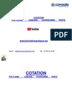 COTATION  POLYLING  LINIEARE COORDONNE  PENTE
