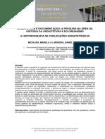 A Historiografia de Publicações Arquitetônicas- Daniel