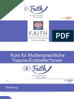 FAITH Präsentation Tag 1 Ersthelfer