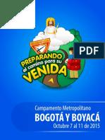 Campamento Metropolitano BOGOTÁ Y BOYACÁ