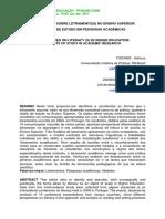 Fischer, Dionísio, 2011. Perspectivas Sobre Letramentos No Ensino Superior- Objectos de Estudo Em Pesquisas Acadê