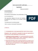 Le Texte Argumentatif Spu00E9cificitu00E9s (1)
