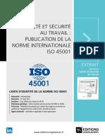Livre blanc Sante et securite au travail SST publication de la norme internationale ISO 45001