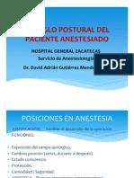 ARREGLO POSTURAL DEL PACIENTE ANESTESIADO