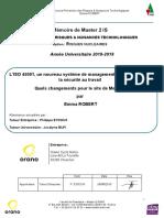 ROBERT Emma. Mémoire PRNT 2019