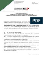 EDITAL N. 05-2018- INSCRIÇÃO PARA O PROGRAMA DE SERVIÇO VOLUNTÁRIO-DOMP