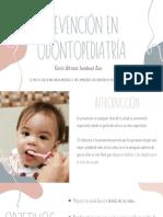 Prevención en Odontopediatría