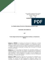 304-09 Sanción para la creación del Fondo Integral de Desarrollo de Actividades Sustitutas a la Explotación Minera